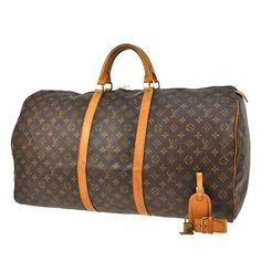 AUTHENTIC LOUIS VUITTON KEEPALL 60 TRAVEL HAND BAG DUFFEL MONOGRAM OK JV11236