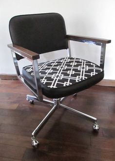 Refurbished Chrome Swivel Chair By Retromodernfurniture On Etsy My Sister Made This And It Is Awesome