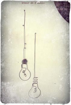 ampoule, light bulb art