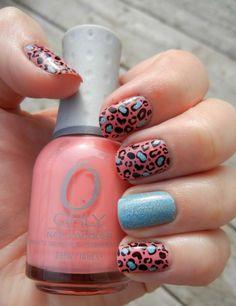 Leopard print manicure, origin unknown