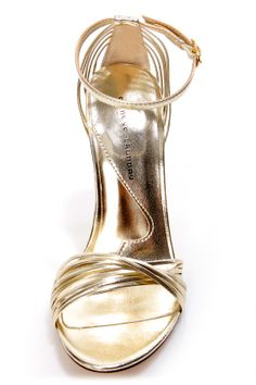 Chinese Laundry Legendary Light Gold Strappy Dress Sandals at LuLus.com! $59.00 #lulus #holidaywear