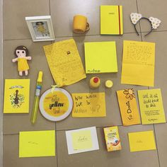 """57.1k Likes, 464 Comments - dodie (@doddleoddle) on Instagram: """"these are just sooomeee of the yellow themed things I was given on my tour! If you scroll along you…"""""""