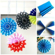 Creative Ideas - DIY Easy Folded Paper Snowflake Ornaments | iCreativeIdeas.com Follow Us on Facebook --> https://www.facebook.com/iCreativeIdeas