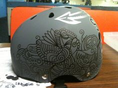 I'm planning to do something like this to my helmet.