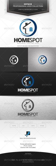 Home Spot Logo Design Template Vector #logotype Download it here:  http://graphicriver.net/item/home-spot/7498873?s_rank=478?ref=nesto