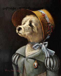 Lizzie  Westie breed  8x10 photo print by BeaumontStudio on Etsy, $26.95