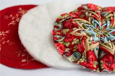 Fabric Star Ornament with step by step instructions and dimensions.  Must try this, beautiful!