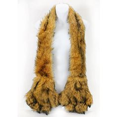 AN-Winter Furry Faux Fur Scarf with Animal Claws Paws Pockets (Brown) Accessory Necessary http://www.amazon.com/dp/B00GWT9WW0/ref=cm_sw_r_pi_dp_3NXWub1HW43X5