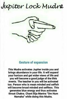 jupiter lock mudra and chakras Meditation Musik, Chakra Meditation, Mindfulness Meditation, Chakra Healing, Kundalini Mantra, Reiki, Vishuddha Chakra, Hand Mudras, Yoga Mantras