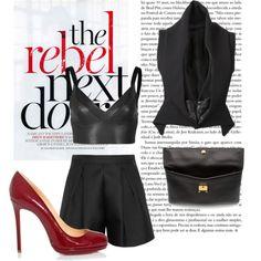 """Leather Black"" by eddiz on Polyvore"