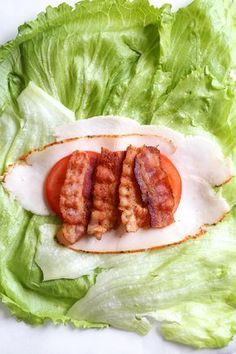 Low Carb Recipes Chicken Club Lettuce Wrap Sandwich, a low-carb (keto) lunch idea that replaces a wheat wrap for a lettuce wrap. Just 5 ingredients, and less than 10 minutes to make! Keto Lunch Ideas, Lunch Recipes, Low Carb Recipes, Diet Recipes, Cooking Recipes, Healthy Recipes, Low Card Lunch Ideas, Lunch Ideas For Diabetics, Good Lunch Ideas