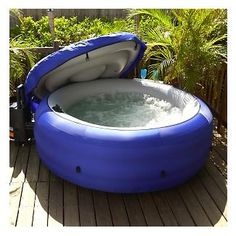 Portable Spa!  Inflates and deflates -- perfect for camping trips :)