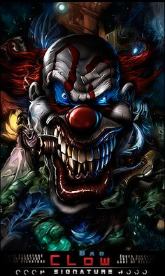 Forum DTC Winner by Pajaroespin Joker Clown, Le Clown, Creepy Clown, Dark Fantasy Art, Dark Art, Art Du Joker, Clown Tattoo, New York Graffiti, Joker Pics