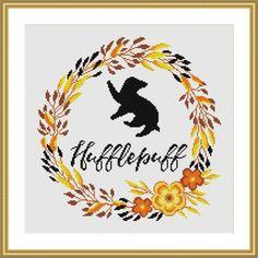 Hufflepuff Floral Harry Potter Cross stitch patter   Craftsy