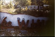 The Whip sign from Chain of Rocks Amusement Park, St Louis 1985