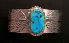 50 OFF Turquoise Cuff Statement  Bracelet by GlassEnamelbyJulie
