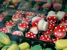 marzipan mushrooms
