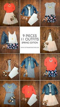 Fashion ideas .. I love seeing 10 pieces in 18 outfits .. that's what I want!