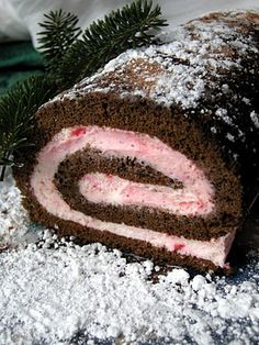 chocolate peppermint cake roll think this will be our christmas eve dessert