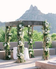 Outdoor Wedding Ceremony // Mi Belle Photographers // http://blog.theknot.com/2013/09/25/a-desert-chic-wedding-from-mi-belle-photographers/