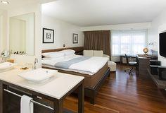 chambre Terzo, lit king avec plumard
