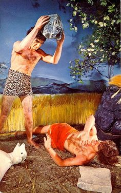 Cain and Abel in the backyard