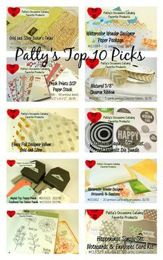 Patty's top 10 picks for the Stampin Up Occasions catalog www.PattyStamps.com