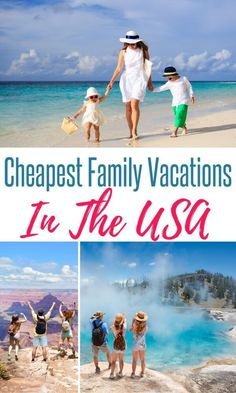 Looking for some budget friendly US vacation destinations this year? We've gathered some of the cheapest places to travel in the US for your next family vacation. Winter Family Vacations, Cheap Family Vacations, Kid Friendly Vacations, Spring Break Vacations, Vacations In The Us, Family Vacation Spots, Family Getaways, Family Vacation Destinations, Best Vacations