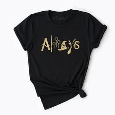 Always Harry Potter Shirt, Harry Potter Fan Shirt, Wizard Tee, HP Logos Tee | The FMLY shop Hp Logo, Always Harry Potter, Harry Potter Shirts, Fan Shirts, Tees, Clothes, Shopping, Fashion, Outfits