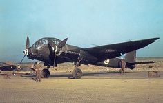 Captured Junkers Ju 188 in RAF livery. Royal Air Force operated at least two captured machines post war, an A-2 and A-3 (Wrk Nr 190335 of 9./KG 26). The A-3 surrendered to British forces after landing at Fraserburgh on 2 May 1945. (http://en.wikipedia.org/wiki/Junkers_Ju_188#Operators)   #plane #WW2