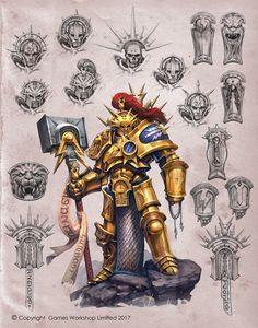 ArtStation - Armour of a Stormcast, Jaime Martinez