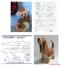 Выкройки для игрушек Plushie Patterns, Animal Sewing Patterns, Sewing Stuffed Animals, Stuffed Animal Patterns, Diy Teddy Bear, Fabric Toys, Crochet Bear, Dog Pattern, Sewing Toys