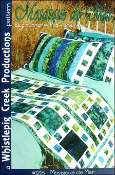 Shop | Category: Quilts | Product: Mosaique de Mer Bed Runner Pattern
