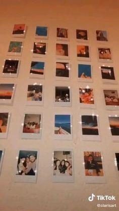 Diy Wall Art, Diy Art, Wall Art Decor, Polaroid Wall, Polaroids, Aesthetic Room Decor, Room Ideas Bedroom, Photo Wall Collage, Useful Life Hacks