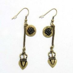 SG PARIS FISH HOOK BURN.Brass DORE EARRINGS FISH HOOK METAL SUMMER WOMEN ETHNO GLAM FASHION JEWELRY / HAIR ACCESSORIES Z OTHERS $4.83
