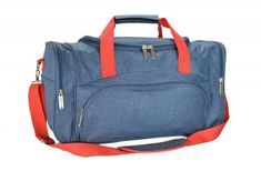 DALIX Signature Travel or Gym Duffle Bag in Navy Blue with Red Straps ** You can find more details by visiting the image link. Mens Gym Bag, Best Gym, Reusable Shopping Bags, New Handbags, Duffel Bag, Womens Tote Bags, Black Nikes, Signature Travel, Gym Bags