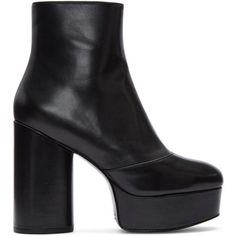 Marc Jacobs Black Amber Platform Boots (29.375 RUB) ❤ liked on Polyvore featuring shoes, boots, black, black shoes, marc jacobs boots, round toe boots, block heel boots and black platform shoes