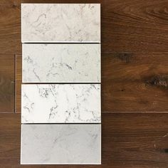 Eye spy some of our newest colors including White Attica and Georgian Bluffs! House and Earth show off Caesarstone samples in their showroom.