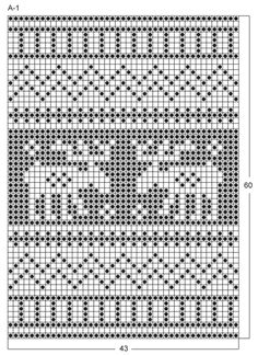 """Oh Deer - Knitted DROPS Christmas pot holder with Nordic pattern in """"Muskat"""". - Free pattern by DROPS Design"""