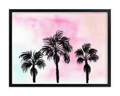 """""""Sunset in L."""" - Grownup Open Edition Non-custom Art Print by Juliana Zimmermann in beautiful frame options and a variety of sizes. Baby Wall Art, Art Wall Kids, Nursery Wall Art, Wall Art Decor, Wall Art Prints, Art For Kids, Girl Nursery, Inspirational Wall Art, Pottery Barn Kids"""