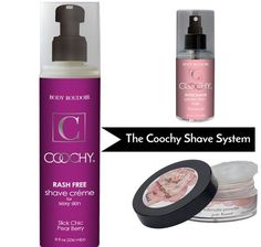 The Coochy Shave System - This 3-part system was designed to give you the ultimate shaving experience with the longest-lasting results.
