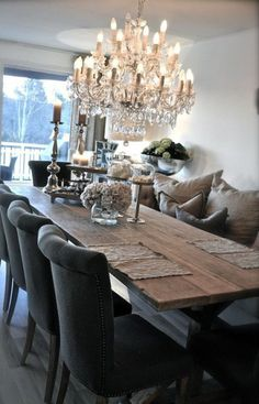 Rustic Glam Dining Room Makeover room ideas on a budget dining room ideas room ideas modern room ideas apartment room room ideas diy Dining Room Design, Dining Room Table, Dining Area, Dining Chairs, Dining Room Inspiration, Interiores Design, Sweet Home, House Design, Furniture
