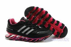 promo code f3ea0 c3296 Adidas Springblade Running Black Fuschia Women