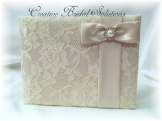 Ivory Wedding Guest Book With Satin Roses Rhinestone Center Books And Pens Ceremony Accessories Supplies Pinterest