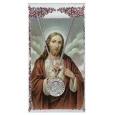 "#blackfriday #sale #cybermonday Amazon.com: Pewter St. Sacred Heart of Jesus Medal with 24"" Chain, Prayer Card Set. MV001,http://www.amazon.com/dp/B005RS5DMA/ref=cm_sw_r_pi_dp_ZT8Ksb0YVQC5NT2Z"