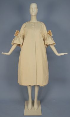 CHRISTIAN DIOR SILK DRESS and COAT ENSEMBLE, 1950's
