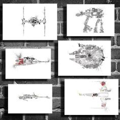 Star Wars Vehicles movie posters (All 6 vehicle posters) on Etsy, $48.03 CAD
