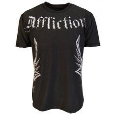 Affliction Mens Dune Reversible T Shirt, Black