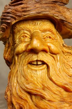 Wood Carving Wood Spirit Gnome Elf Wizard by TreeWizWoodCarvings, $100.00