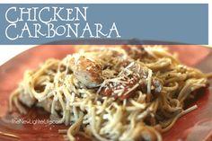 Chicken Carbonara Recipe ~ Trim Healthy Mama S